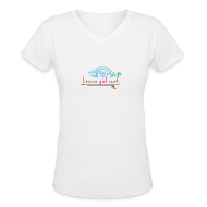 T-Shirts ~ Women's V-Neck T-Shirt ~ Women's V-Neck T (White Cotton)