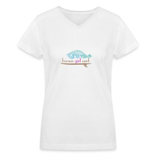Women's V-Neck T (White Cotton) - Women's V-Neck T-Shirt