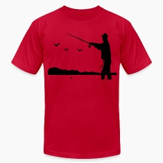 Fishing Men's T-Shirt by American Apparel