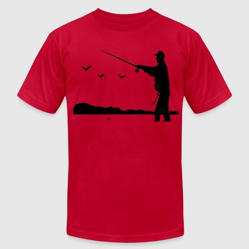 Fishing Men's T-Shirt by American Apparel - Men's T-Shirt by American Apparel