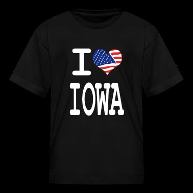 i love iowa - white Kids' Shirts