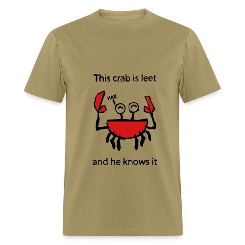 Leet Crab T-Shirt - Men's T-Shirt