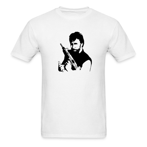 Chuck with his Machine Gun - Men's T-Shirt