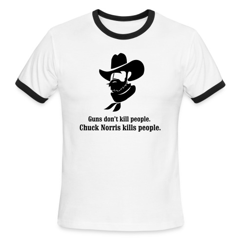 Chuck and Guns - Men's Ringer T-Shirt
