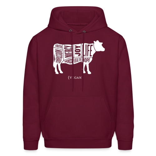 Men's 'Words to Live By' Sweatshirt - Cow - Men's Hoodie
