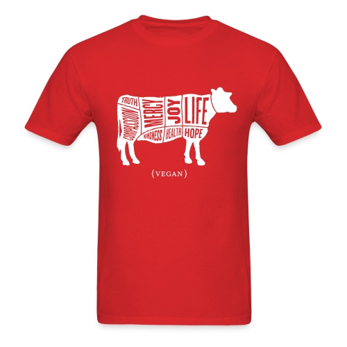 Men's 'Words to Live By' Shirt - Cow - Men's T-Shirt