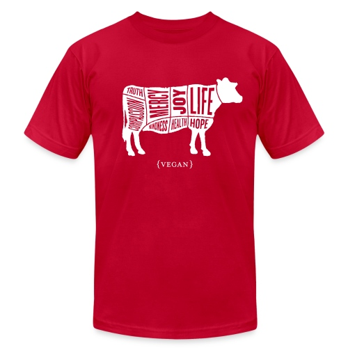 Men's 'Words to Live By' Shirt - Cow - Men's Fine Jersey T-Shirt