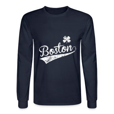 Boston MA Green Long Sleeve Shirts