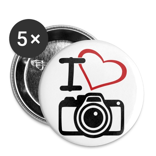 I <3 Photography Large Pin - Large Buttons