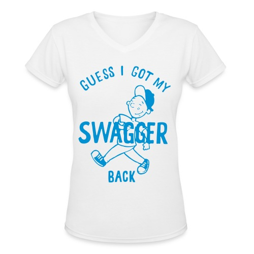 #SwaggerBack - Women's V-Neck T-Shirt