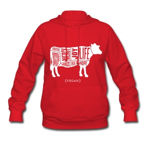 Women's Words to Live By Sweatshirt - Cow - Women's Hoodie