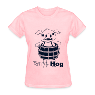 Women's T-Shirts ~ Women's T-Shirt ~ Bare Hog Logo--Black Glitz