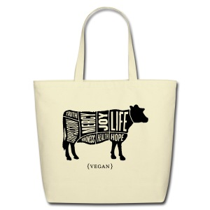 Cow design (no quote on back) - Eco-Friendly Cotton Tote