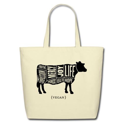 Cow design (no quote on back) - Eco-Friendly Cotton Tote