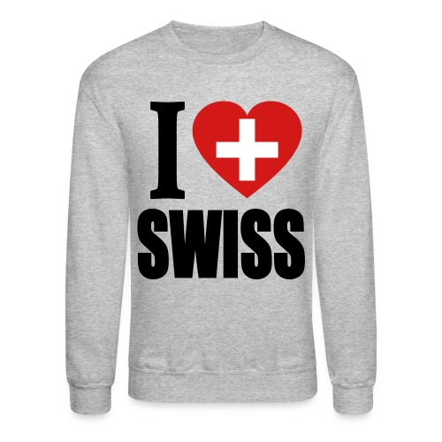 I Love Swiss Long Sleeve Shirt - Crewneck Sweatshirt