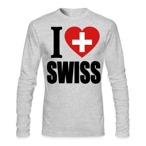 I Love Swiss Long Sleeve Shirt - Men's Long Sleeve T-Shirt by Next Level