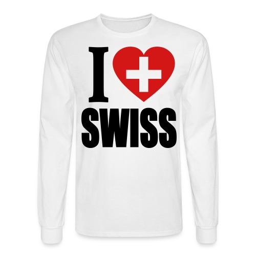 I Love Swiss Long Sleeve Shirt - Men's Long Sleeve T-Shirt