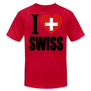 I Love Swiss T-Shirt - Men's T-Shirt by American Apparel