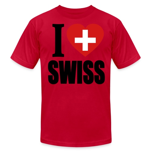 I Love Swiss T-Shirt - Men's Fine Jersey T-Shirt