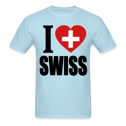 I Love Swiss T-Shirt - Men's T-Shirt