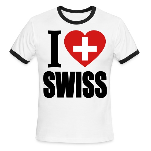 I Love Swiss T-Shirt - Men's Ringer T-Shirt