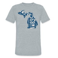 T-Shirts ~ Unisex Tri-Blend T-Shirt ~ Michigan Plate State