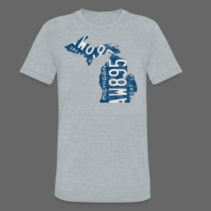 Michigan Plate State - Unisex Tri-Blend T-Shirt by American Apparel