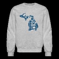 Long Sleeve Shirts ~ Crewneck Sweatshirt ~ Michigan Plate State
