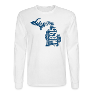 Long Sleeve Shirts ~ Men's Long Sleeve T-Shirt ~ Michigan Plate State