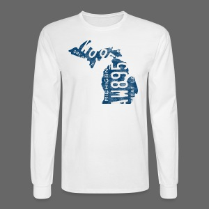 Michigan Plate State - Men's Long Sleeve T-Shirt