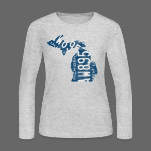 Michigan Plate State - Women's Long Sleeve Jersey T-Shirt
