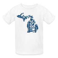 Kids' Shirts ~ Kids' T-Shirt ~ Michigan Plate State