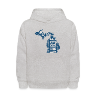 Sweatshirts ~ Kids' Hoodie ~ Michigan Plate State