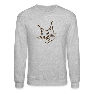 animal t-shirt lynx cougar lion wildcat bobcat cat wild hunter hunt hunting - Crewneck Sweatshirt