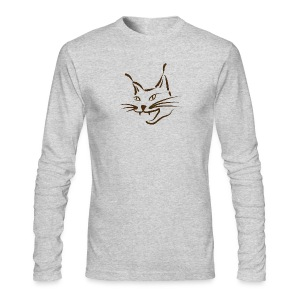 animal t-shirt lynx cougar lion wildcat bobcat cat wild hunter hunt hunting - Men's Long Sleeve T-Shirt by Next Level