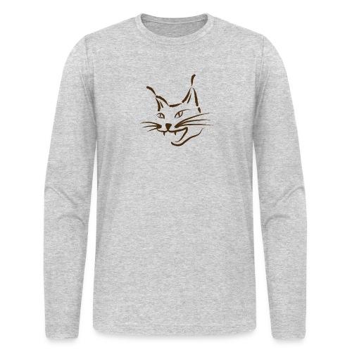 animal t-shirt lynx cougar lion wildcat bobcat cat wild hunter hunt hunting - Men's Long Sleeve T-Shirt by Next Level