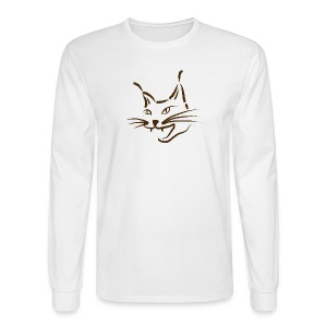 animal t-shirt lynx cougar lion wildcat bobcat cat wild hunter hunt hunting - Men's Long Sleeve T-Shirt