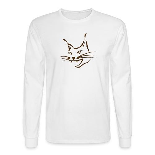 animal t-shirt lynx cougar lion wildcat bobcat cat wild hunter hunt hunting - Men's Long Sleeve T-Shirt