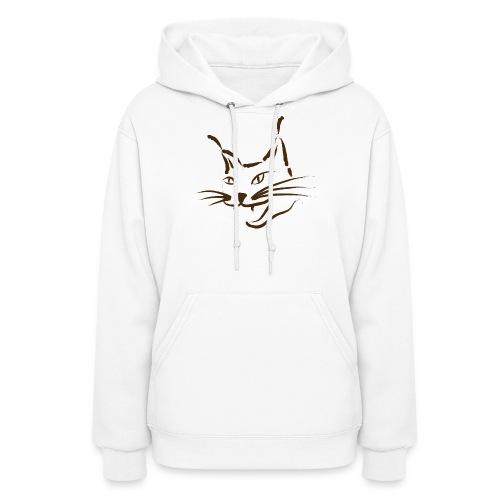 animal t-shirt lynx cougar lion wildcat bobcat cat wild hunter hunt hunting - Women's Hoodie