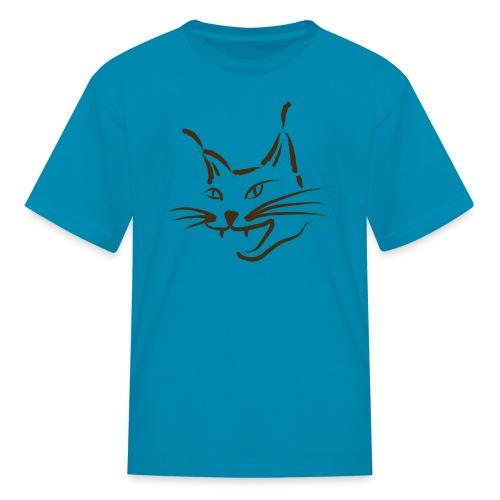 animal t-shirt lynx cougar lion wildcat bobcat cat wild hunter hunt hunting - Kids' T-Shirt