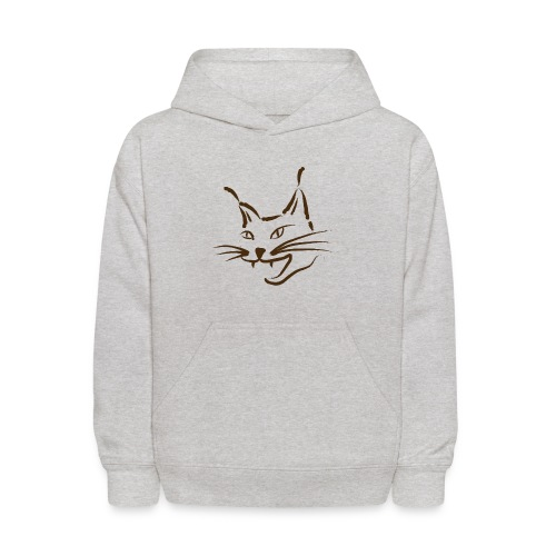 animal t-shirt lynx cougar lion wildcat bobcat cat wild hunter hunt hunting - Kids' Hoodie