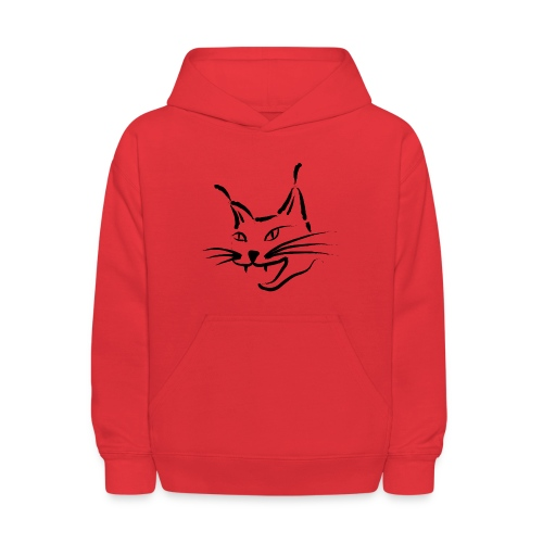 animal t-shirt lynx cougar lion wildcat bobcat cat wild hunter hunt hunting - Kids' Hoodie
