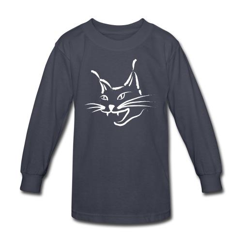 animal t-shirt lynx cougar lion wildcat bobcat cat wild hunter hunt hunting - Kids' Long Sleeve T-Shirt