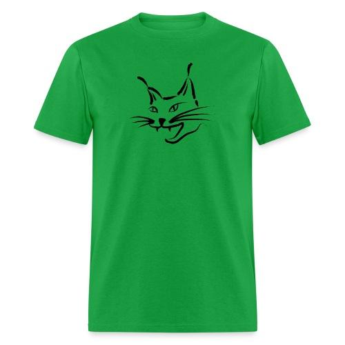 animal t-shirt lynx cougar lion wildcat bobcat cat wild hunter hunt hunting - Men's T-Shirt