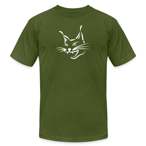 animal t-shirt lynx cougar lion wildcat bobcat cat wild hunter hunt hunting - Men's Fine Jersey T-Shirt