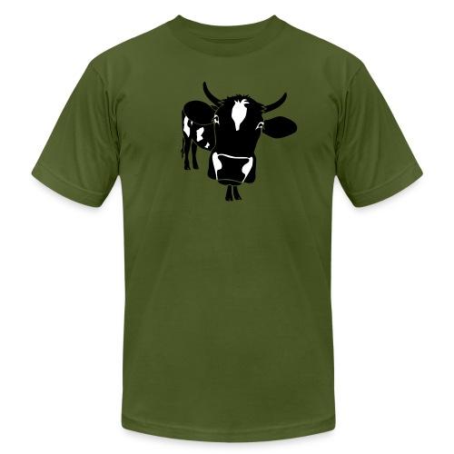 animal t-shirt cow bull ox milk farmer farm country cows dairy beef steak cook bbq - Men's Fine Jersey T-Shirt