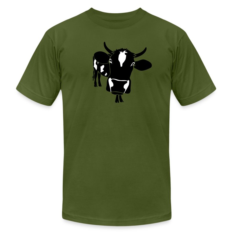animal t-shirt cow bull ox milk farmer farm country cows dairy beef steak cook bbq - Men's T-Shirt by American Apparel