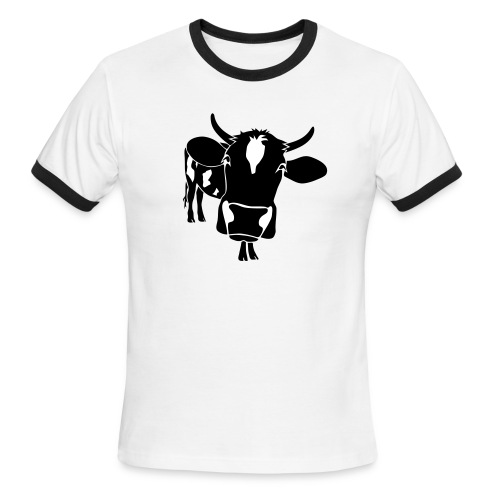 animal t-shirt cow bull ox milk farmer farm country cows dairy beef steak cook bbq - Men's Ringer T-Shirt