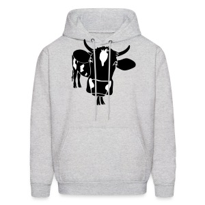 animal t-shirt cow bull ox milk farmer farm country cows dairy beef steak cook bbq - Men's Hoodie