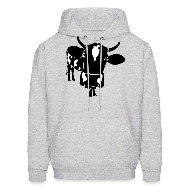 animal t-shirt cow bull ox milk farmer farm country cows dairy beef steak cook bbq - Men's Hoodie